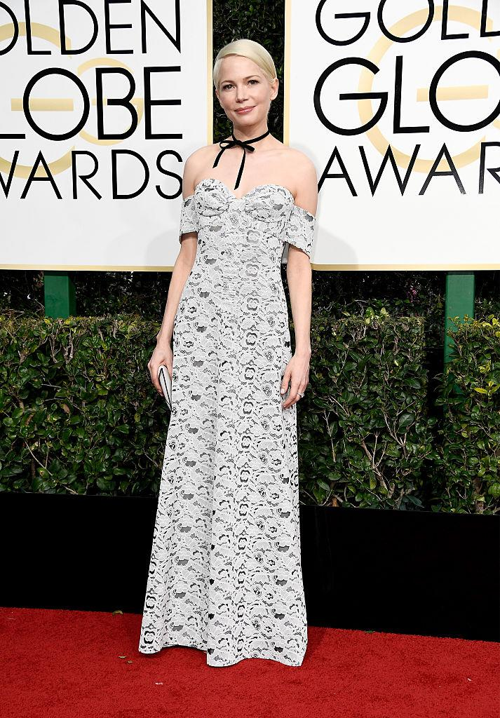 Michelle Williams at the 74th Annual Golden Globe Awards at The Beverly Hilton Hotel on January 8, 2017 in Beverly Hills, California. (Photo: Getty Images)