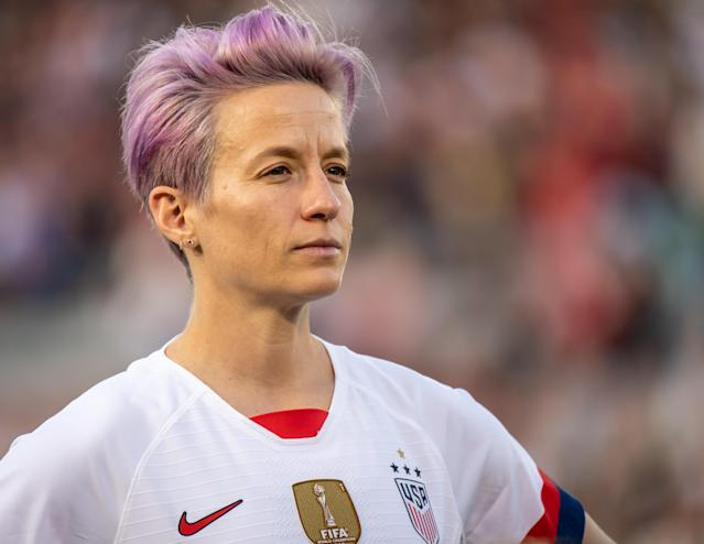 Megan Rapinoe playing for the USWNT (Credit: Getty Images)