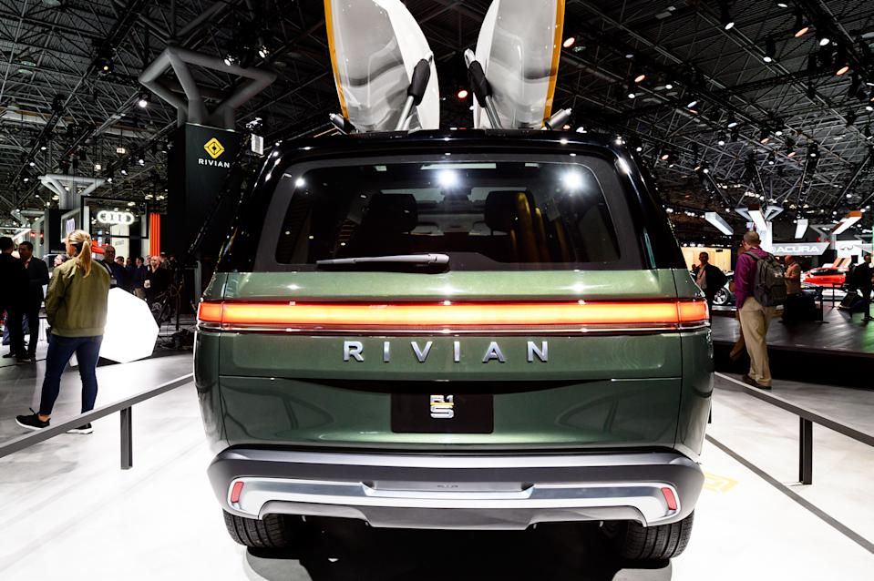NEW YORK, NY, UNITED STATES - 2019/04/17: Rivian R1S seen at the New York International Auto Show at the Jacob K. Javits Convention Center in New York. (Photo by Michael Brochstein/SOPA Images/LightRocket via Getty Images)