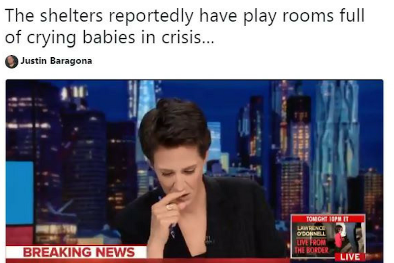 News Anchor Breaks Down on Live TV While Reading Reports of Babies Sent to 'Tender Age' Shelters