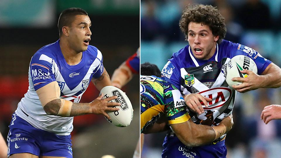 Michael Lichaa and Adam Elliot were teammates at the Canterbury Bulldogs. Pic: Getty/AAP