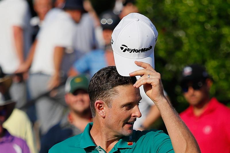 Hats off: Justin Rose at the Tour Championship yesterday, where he sits one shot off the lead after the first round: Getty Images