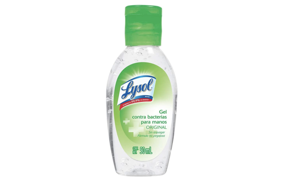 Lysol Gel Antibacterial para Manos, 50ml. Foto: amazon.com.mx