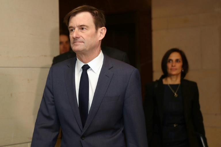 Under Secretary of State for Political Affairs David Hale arrives at the US Capitol before giving a closed-door deposition to the House Intelligence Committee in November 2019