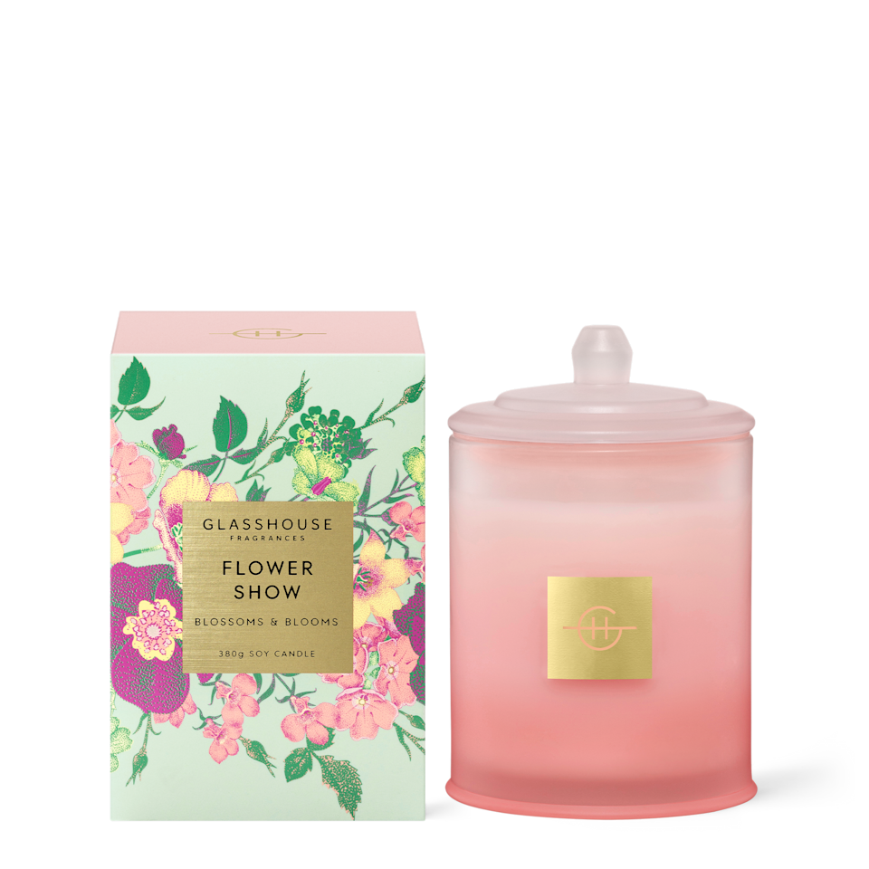 Glasshouse Flower Show candle, $54.95