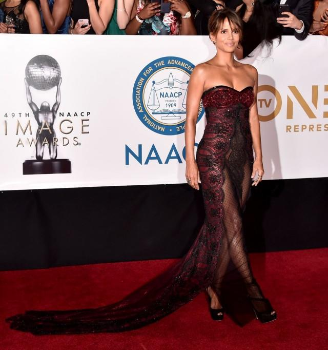halle berry sheer gown