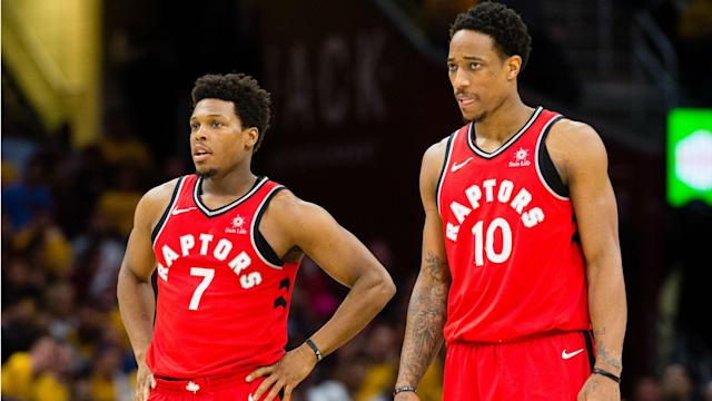The Raptors finished last season with a 59-23 record but were swept by the Cavaliers in the second round of the playoffs.
