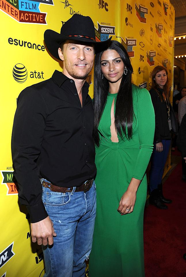 <b>Matthew McConaughey & Camilla Alves</b><br>We all know Matthew McConaughey, 42, dances to the beat of his own drum. So, it's no wonder he is taking a non-traditional route to the alter with 30-year-old model Camilla Alves: The couple, together since 2007, had two children before getting engaged on Christmas Day in 2011.