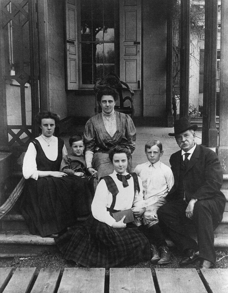 The 22nd and 24th President of the United States of America, Grover Cleveland (1837 - 1908), with his family. Source: Getty