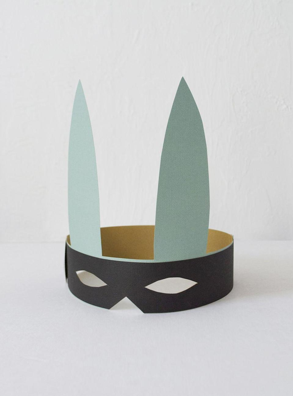 """<p>If your kid is too cool to be a regular rabbit, then this bandit bunny mask is just the accessory they need. </p><p><strong><em>Get the tutorial at <a href=""""http://mermagblog.com/make-a-bandit-bunny-mask-for-easter/"""" rel=""""nofollow noopener"""" target=""""_blank"""" data-ylk=""""slk:Mer Mag"""" class=""""link rapid-noclick-resp"""">Mer Mag</a>. </em></strong></p>"""