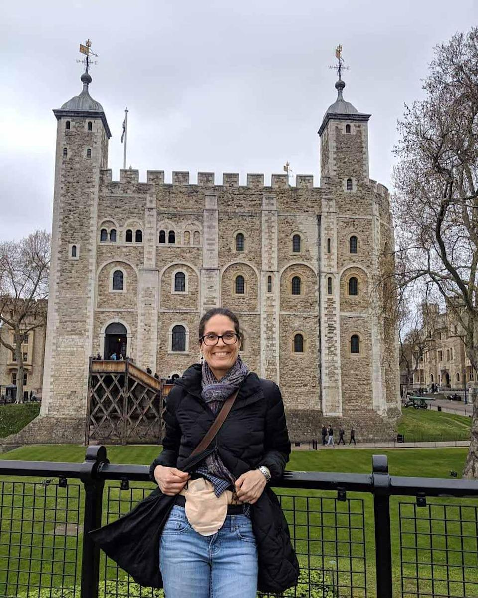 Laura at the Tower of London. PA REAL LIFE COLLECT