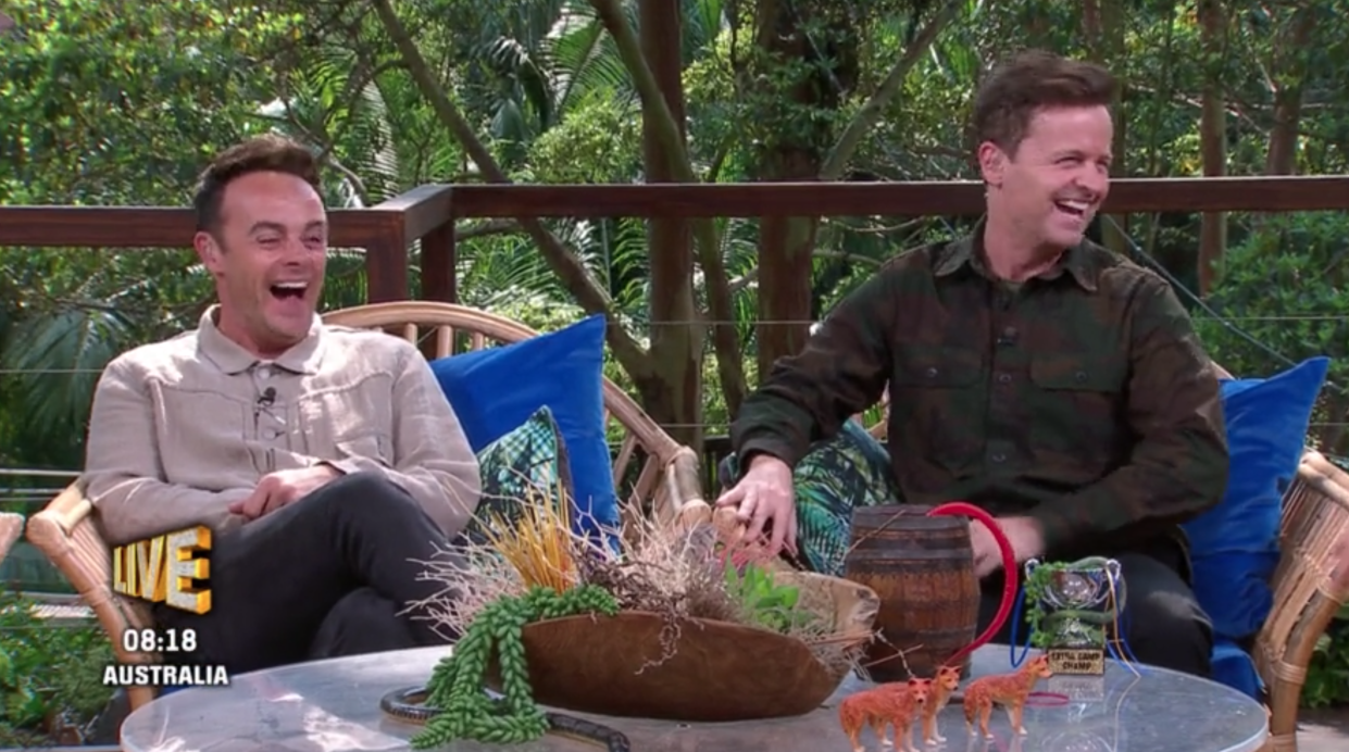 Ant and Dec on <i>I'm a Celebrity: Extra Camp</i>. (ITV)