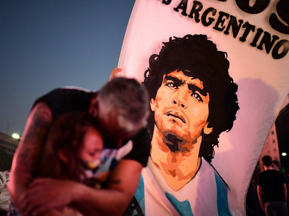 Argentines are in national mourning after Diego Maradona's death (AFP via Getty Images)