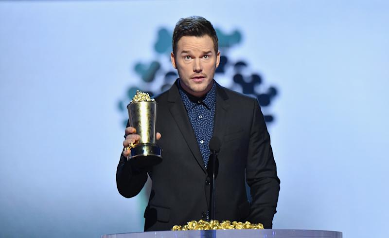 Chris Pratt receives the Generation Award at the MTV Movie & TV Awards. (Jeff Kravitz via Getty Images)