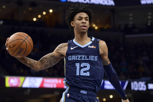 Memphis Grizzlies guard Ja Morant apologized for an anti-police post and clarified his reasoning for it. (AP Photo/Brandon Dill)