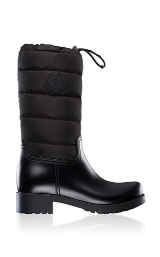 <p>Bundle up in these <span>Moncler Ginette Leather Puffer Boots</span> ($495).</p>