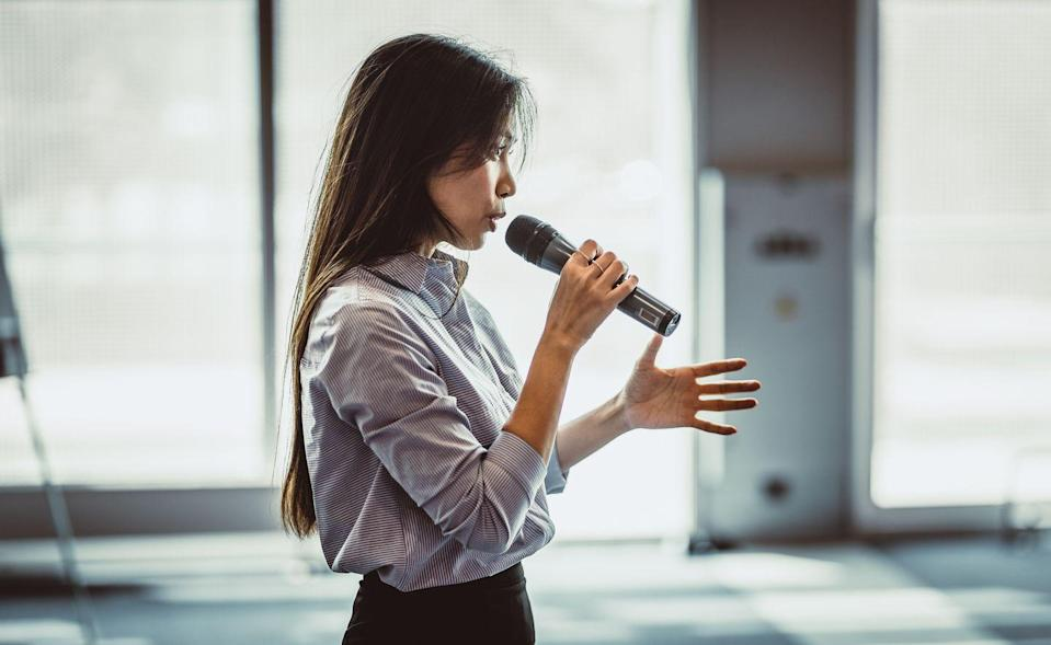 """<p>Fancy being taught by a former Goldman Sachs banker and TedX speaker about how to give a great speech? Now is your chance, as renowned businessman Chris Haroun will take you, step-by-step, through how to deliver the perfect presentation, whether it's understanding how to structure a speech or how to speak with confidence.</p><p>Course: 16 hours on-demand videos, 29 articles, 307 downloadable resources, certificate of completion. </p><p>Price £11.99</p><p><a class=""""link rapid-noclick-resp"""" href=""""https://go.redirectingat.com?id=127X1599956&url=https%3A%2F%2Fwww.udemy.com%2Fcourse%2Fthe-complete-presentation-and-public-speaking-speech-course%2F&sref=https%3A%2F%2Fwww.elle.com%2Fuk%2Flife-and-culture%2Fg32386932%2Fbusiness-courses-online%2F"""" rel=""""nofollow noopener"""" target=""""_blank"""" data-ylk=""""slk:SHOP NOW"""">SHOP NOW</a></p>"""