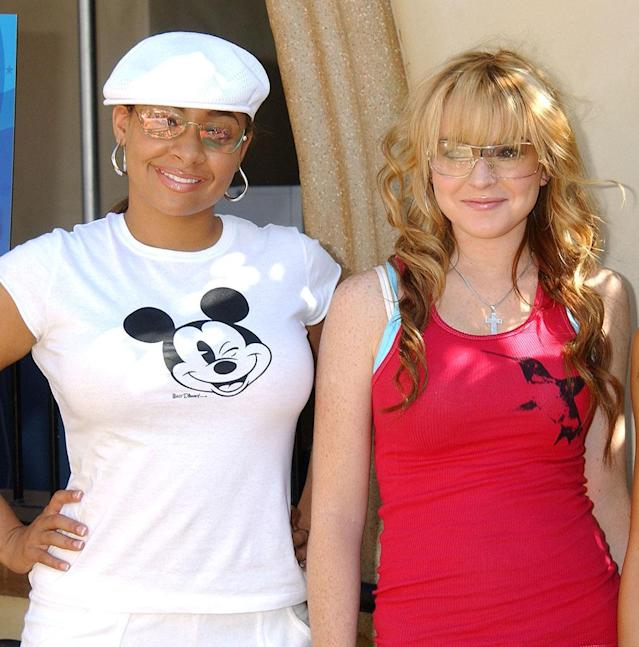 """<p>Back in their Disney days, LiLo and Raven were all set to be roomies, but it didn't quite work out that way. """"She paid rent, and she was there probably three times,"""" Symoné explained to <i>Us Weekly</i> in 2008. """"She had her clothes in the apartment we were supposed to live in together."""" So she was a really good roommate! (Photo: Gregg DeGuire/WireImage) </p>"""