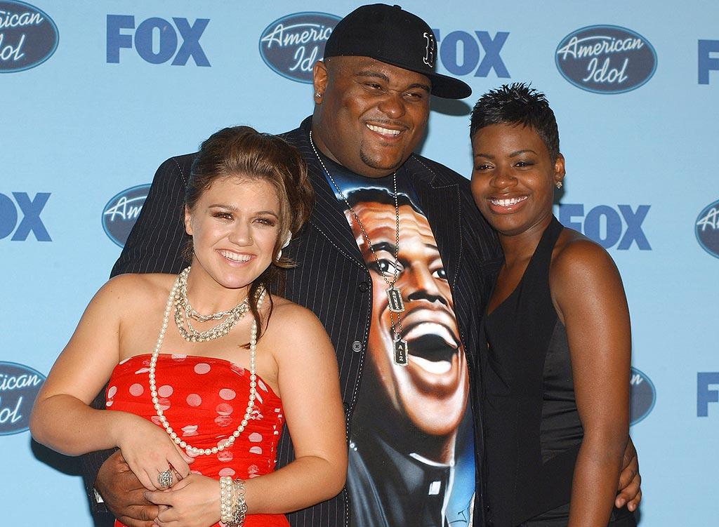 "A trio of ""American Idol"" winners: Kelly, Ruben, and Fantasia. Jean_Paul Aussenard/<a href=""http://www.wireimage.com"" target=""new"">WireImage.com</a> - May 26, 2004"