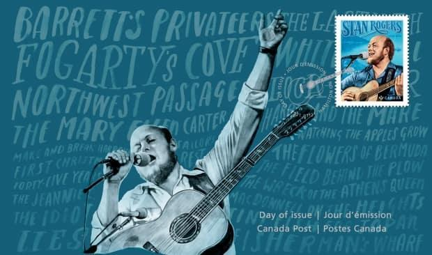 Canada Post released this official first day cover featuring Canadian folk singer Stan Rogers on July 21, 2021. (Canada Post - image credit)
