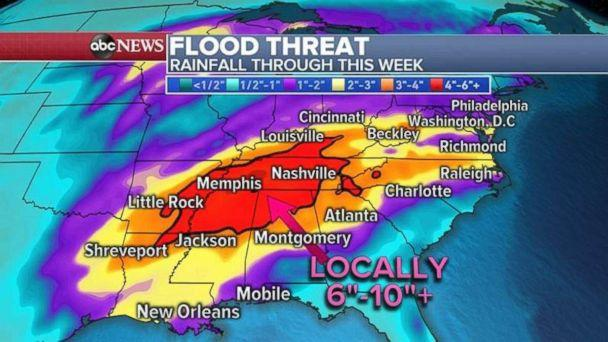Powerful storm takes aim this week as major flooding threat