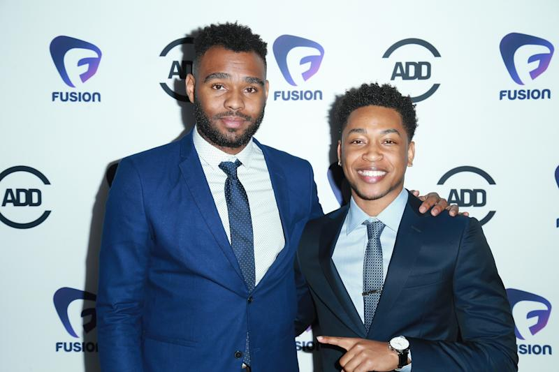 LOS ANGELES, CA - FEBRUARY 22: Director J.D. Dillard and Actor/music artist Jacob Latimore arrives at the 2nd Annual All Def Movie Awards at Belasco Theatre on February 22, 2017 in Los Angeles, California. (Photo by Leon Bennett/WireImage)