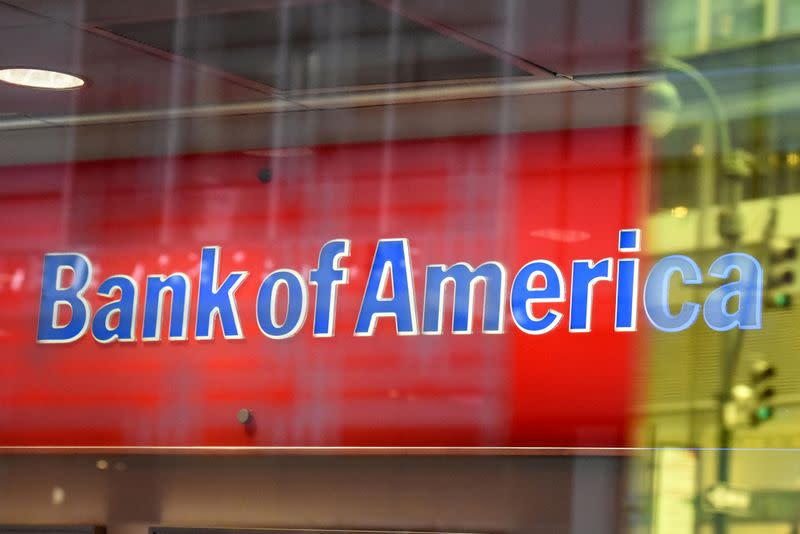 FILE PHOTO: A Bank of America logo in New York City