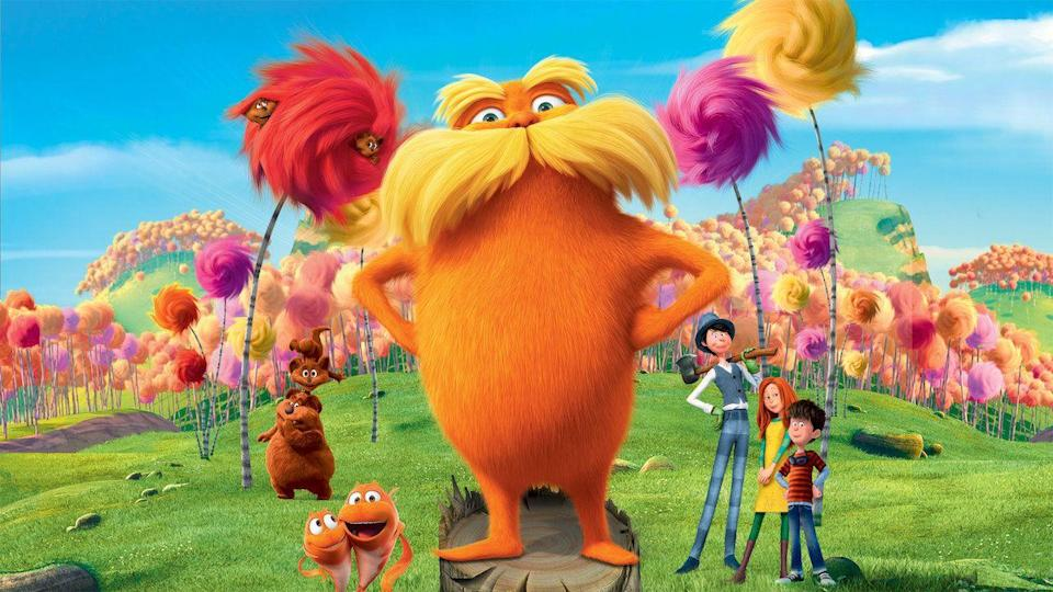 """<p>The works of Dr. Seuss have been re-imagined and re-adapted many times over the years, with varying degrees of success, but this one keeps its environmental message. The creature known as the Lorax, voiced by Danny DeVito, has to convince a town not to cut down all the trees in the forest. (Taylor Swift also provides a voice!)</p><p><a class=""""link rapid-noclick-resp"""" href=""""https://www.netflix.com/title/70208102"""" rel=""""nofollow noopener"""" target=""""_blank"""" data-ylk=""""slk:STREAM NOW"""">STREAM NOW</a></p>"""