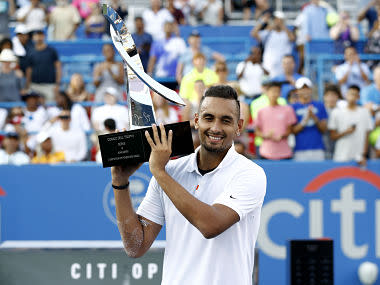 Citi Open 2019: Nick Kyrgios keeps composure and clinches title after beating Daniil Medvedev in straight sets