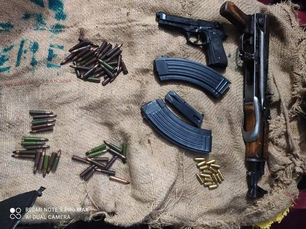 Visual of seized arms and ammunition (Photo/ANI)