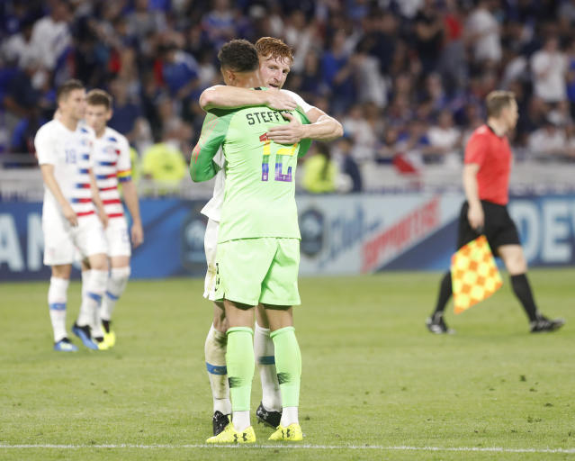 USMNT goalkeeper Zack Steffen and central defender Tim Parker played well against France. (Associated Press)