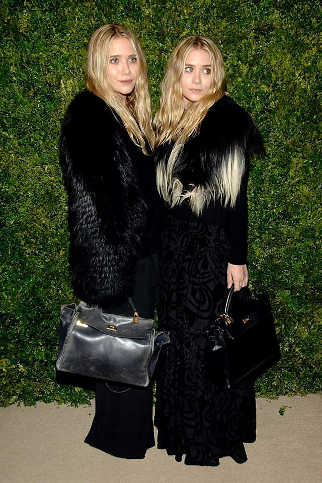 """Mary-Kate and Ashley Olsen stepped out in their granny gear yet again for the CFDA/Vogue Fashion Fund Awards held at Skylight Soho in New York City Monday night. Ben Gabbe/<a href=""""http://www.gettyimages.com/"""" target=""""new"""">GettyImages.com</a> - November 15, 2010"""