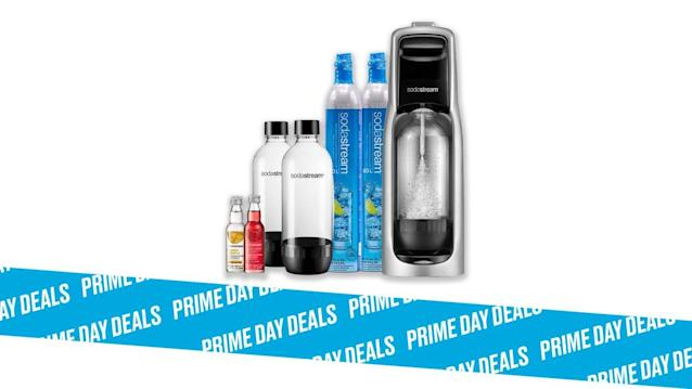 Photo Illustration by Elizabeth Brockway/The Daily Beast * SodaStream Jet Sparkling Water Maker Bundle (Silver), $80 (38% off). * Easy-to-use, eco-friendly, perfect for summer. Read more about its features here. * Shop the rest of our other Prime Day deal picks here. Not a Prime member yet? Sign up here.After screwing the bottle into the countertop Sodastream, you pump up to three times (depending on how fizzy you want your fizzy water), unscrew the bottle, and enjoy. And this Prime Day bundle gets you two bottles and two cylinders so you won't run out quickly and, if you do, will have a spare. To never get caught without access to fizzy water, grab this global favorite and save more than a third on it. | Get it on Amazon >Let Scouted guide you to the best Prime Day deals. Shop Here >Scouted is internet shopping with a pulse. Follow us on Twitter and sign up for our newsletter for even more recommendations and exclusive content. Please note that if you buy something featured in one of our posts, The Daily Beast may collect a share of sales.Read more at The Daily Beast.Got a tip? Send it to The Daily Beast hereGet our top stories in your inbox every day. Sign up now!Daily Beast Membership: Beast Inside goes deeper on the stories that matter to you. Learn more.