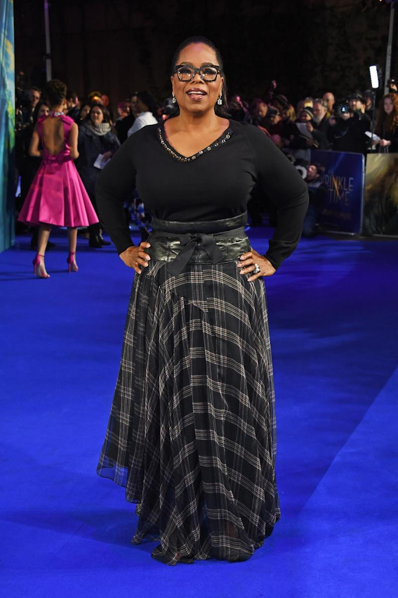 Oprah Winfrey on the red carpet (Dave Benett)