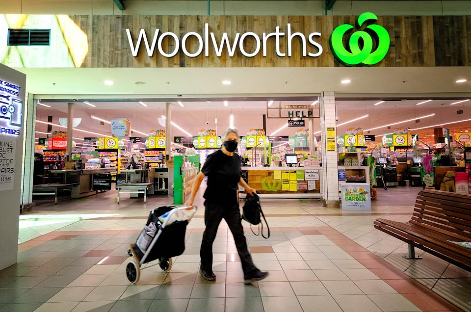 General photo of Woolworth in Melbourne.
