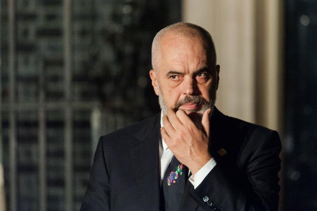 Prime Minister of Albania Edi Rama leaves 10 Downing Street after attending reception for NATO leaders hosted by British Prime Minister Boris Johnson on 03 December, 2019 in London, England, ahead of the main summit tomorrow held to commemorate the 70th anniversary of NATO. (Photo by WIktor Szymanowicz/NurPhoto via Getty Images) (Photo: NurPhoto via NurPhoto via Getty Images)