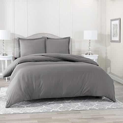 Nestl Bedding Duvet Cover, Protects and Covers your Comforter/Duvet Insert, Luxury 100% Super Soft Microfiber, Queen Size, Color Charcoal Gray, 3 Piece Duvet Cover Set Includes 2 Pillow Shams (Amazon / Amazon)