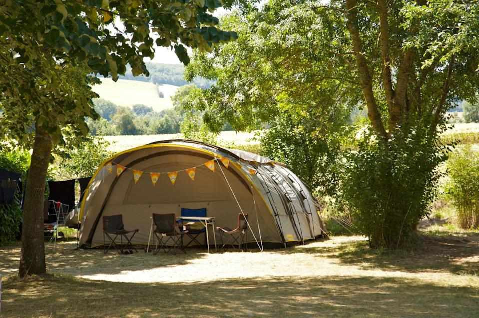 """<p><span>Surrounded by sunflower fields and vineyards, in the grounds of an old farm in the Gascony valley, </span><a href=""""https://coolcamping.com/campsites/europe/france/west-france/midi-pyrenees/1480-domaine-les-angeles"""" rel=""""nofollow noopener"""" target=""""_blank"""" data-ylk=""""slk:this family-run campsite"""" class=""""link rapid-noclick-resp""""><span>this family-run campsite</span></a><span> has a swimming pool, paddling pool and playground – with a relaxed atmosphere to boot. The local cuisine, including foie gras, is a particular highlight. A tent and two people from €15 (£13). [Photo: Cool Camping]</span> </p>"""