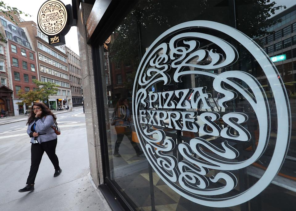 Pizza Express restaurant closures (PA Archive)