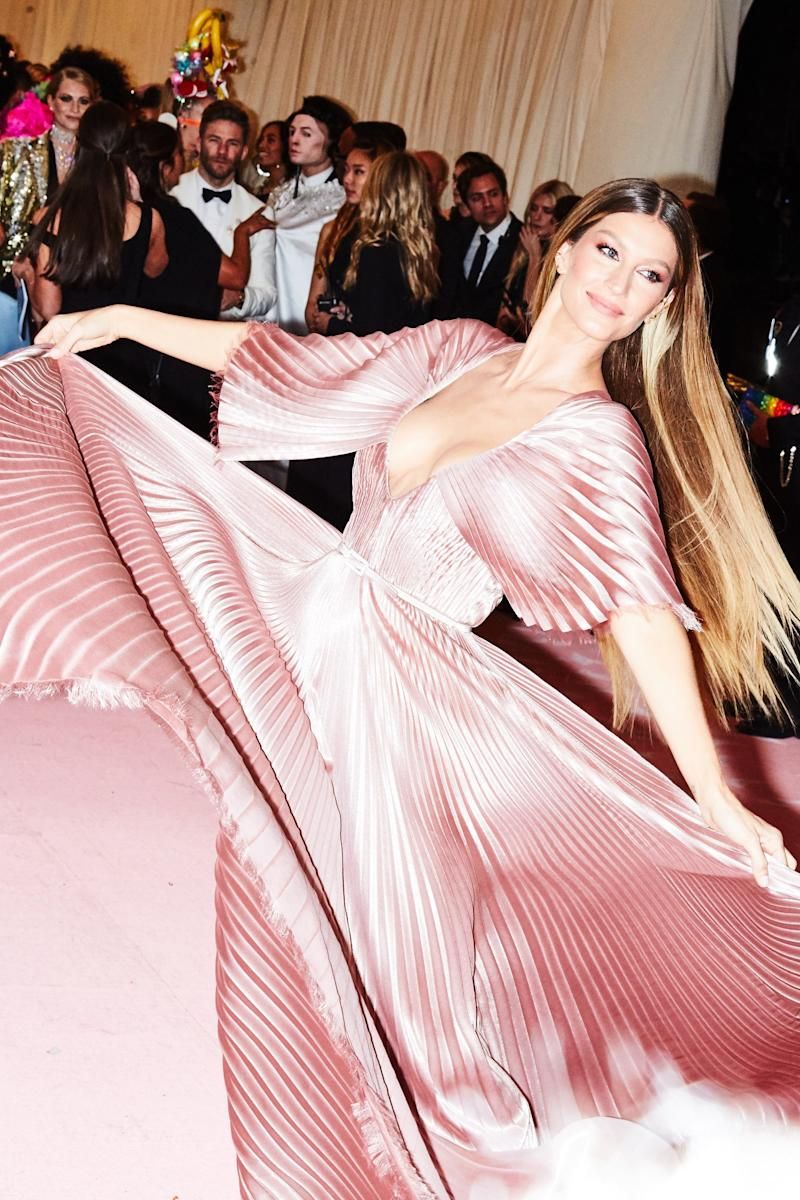 Gisele Bündchen on the red carpet at the Met Gala in New York City on Monday, May 6th, 2019. Photograph by Amy Lombard for W Magazine.