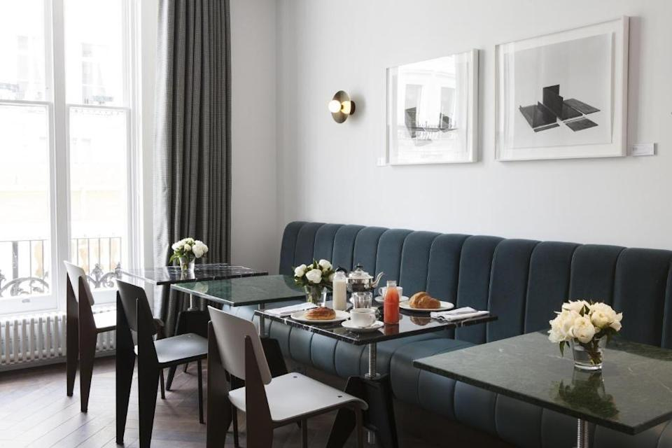 """<p>For tranquility and elegance in the heart of West London, look no further than <a href=""""https://go.redirectingat.com?id=127X1599956&url=https%3A%2F%2Fwww.booking.com%2Fhotel%2Fgb%2Fthe-laslett.en-gb.html%3Faid%3D2070929%26label%3Dlondon-boutique-hotels&sref=https%3A%2F%2Fwww.redonline.co.uk%2Ftravel%2Fg504719%2Fboutique-hotels-london%2F"""" rel=""""nofollow noopener"""" target=""""_blank"""" data-ylk=""""slk:The Laslett"""" class=""""link rapid-noclick-resp"""">The Laslett</a>, which takes its name from Rhaune Laslett, a local activist who organised the original Notting Hill Festival and eventually evolved into the famous Carnival. </p><p>Marking a collaboration between Living Rooms and Tom Bartlett, the founder of leading British architect and design studio Waldo Works, this stylish boutique hotel seamlessly infuses a classic space with playful modernity.</p><p>The rooms are impossibly chic, with their vintage curiosities and freestanding baths, while the ground floor is like more neighbourhood hangout than hotel lobby, featuring walls of art, the Henderson bar and coffee shop and a 'shop' showcasing collaborations with designers and artists.</p><p><a class=""""link rapid-noclick-resp"""" href=""""https://go.redirectingat.com?id=127X1599956&url=https%3A%2F%2Fwww.booking.com%2Fhotel%2Fgb%2Fthe-laslett.en-gb.html%3Faid%3D2070929%26label%3Dlondon-boutique-hotels&sref=https%3A%2F%2Fwww.redonline.co.uk%2Ftravel%2Fg504719%2Fboutique-hotels-london%2F"""" rel=""""nofollow noopener"""" target=""""_blank"""" data-ylk=""""slk:CHECK AVAILABILITY"""">CHECK AVAILABILITY</a></p>"""