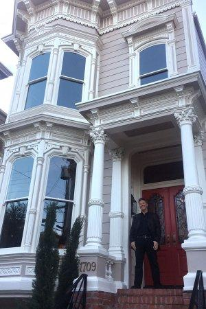 Jeff Franklin poses outside the Tanner home, his new property, in San Francisco. (Courtesy of Jeff Franklin)