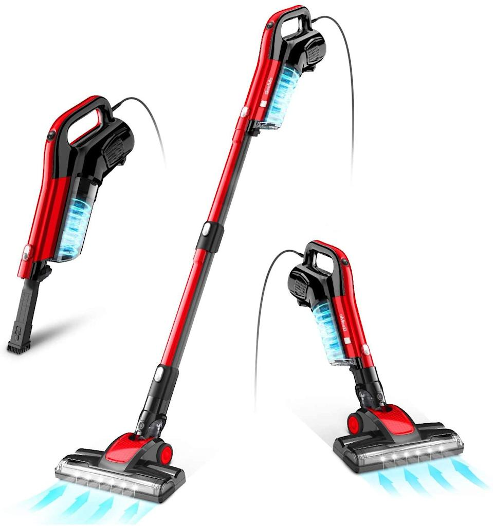 """<br><br><strong>GeeMo</strong> 4-in-1 Stick Vacuum 17Kpa Vacuum Cleaner, $, available at <a href=""""https://amzn.to/3lEOjNx"""" rel=""""nofollow noopener"""" target=""""_blank"""" data-ylk=""""slk:Amazon"""" class=""""link rapid-noclick-resp"""">Amazon</a>"""