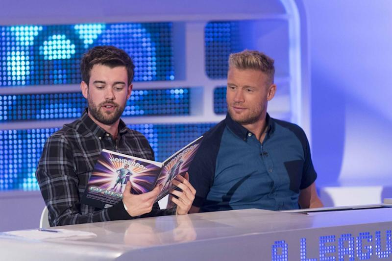 Comedy pals: Jack Whitehall and Freddie's Flintoff friendship has entertained viewers for years (Sky1)