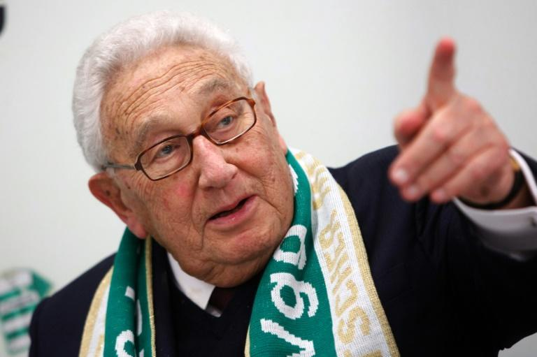 Former US Secretary of State Henry Kissinger on his 2012 visit to see a Fuerth home game in the Bundesliga (AFP/Bastian Ott)