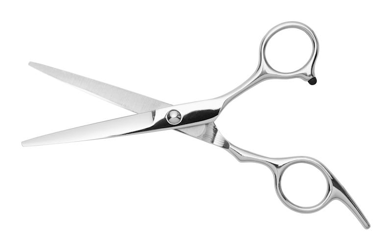 Open pair of scissors.