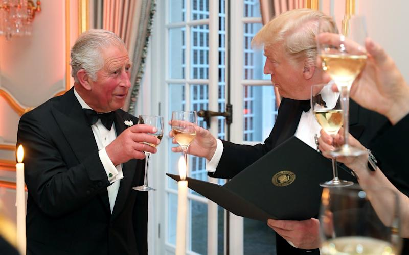 Prince Charles and Donald Trump toast during the US president's state visit in June 2019 - Chris Jackson - WPA Pool/Getty Images