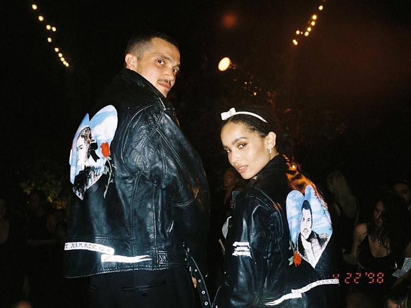 Zoe Kravitz And Karl Glusman Marked Wedding With Custom Jackets