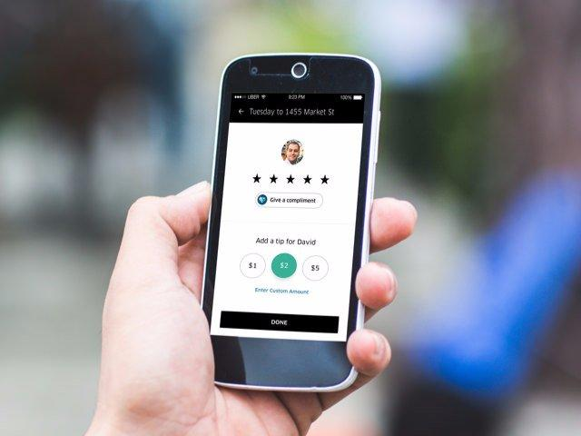 uber tipping