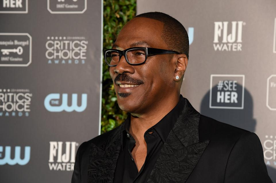 Eddie Murphy, winner of the Lifetime Achievement Award, attends the 25th Annual Critics' Choice Awards at Barker Hangar on January 12, 2020 in Santa Monica, California. (Photo by Michael Kovac/Getty Images for Champagne Collet)